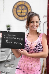 istripper fansign Stella Jones