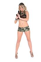Zanet in 'Commando' sexy nude preview for istripper