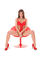 Little Caprice in 'Red Is My Color' sexy nude preview for istripper